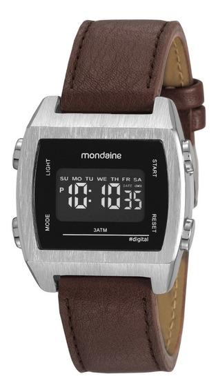 Relógio Masculino Mondaine Digital Marrom 99395g0mvnh1 Couro