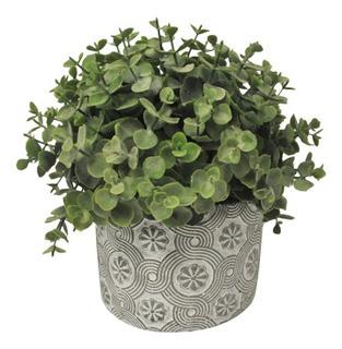 Planta Artificial Decorativa De Cerámica Eucalipto