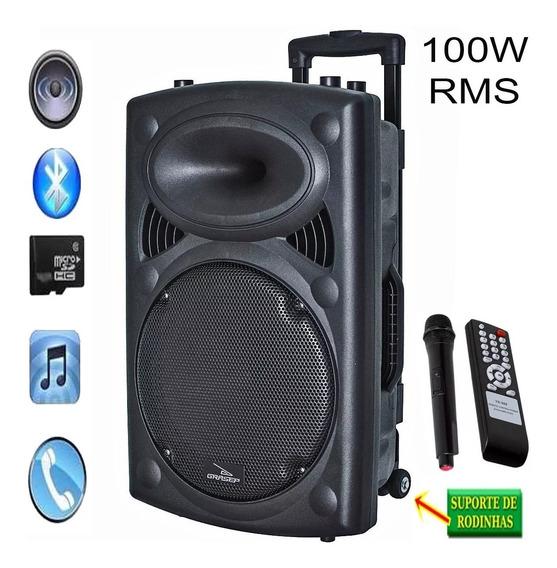 Caixa Multiuso Amplificada 100 Rms 12 Bluetooth Carrinho Pro