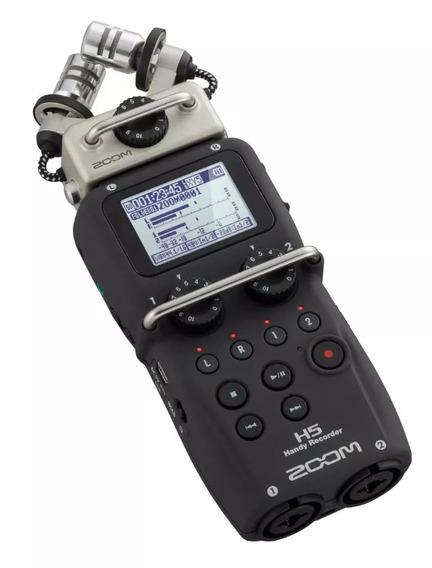 Gravador Handy Zoom H5 C/ Sistema De Microfone Intercambiáve
