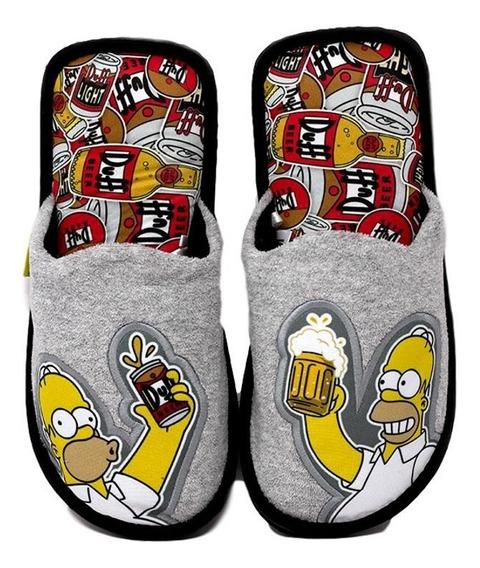 Pantufla Para Hombre Los Simpson De Homero Estilo Beer Duff