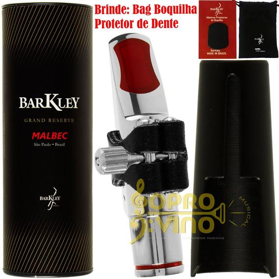 Boquilha Sax Alto Barkley Malbec 7 Metal Silver Comp Bag Pro