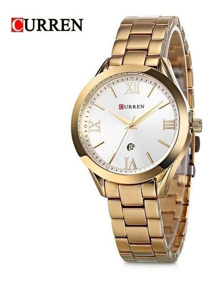 Relógio Feminino Curren Luxo Sofisticado