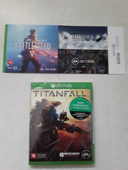 Jogo Battlefield 5 V Deluxe Edition Xbox One Código 25 Dígitos + Battlefield 1943 + 1 Mês De Ea Access + Jogo Titanfall