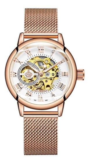 Relógio Feminino Mecânico Automático Mg. Orkina Original