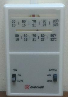 Termostato Ambiental Analógico P/ Aire Acondicionado