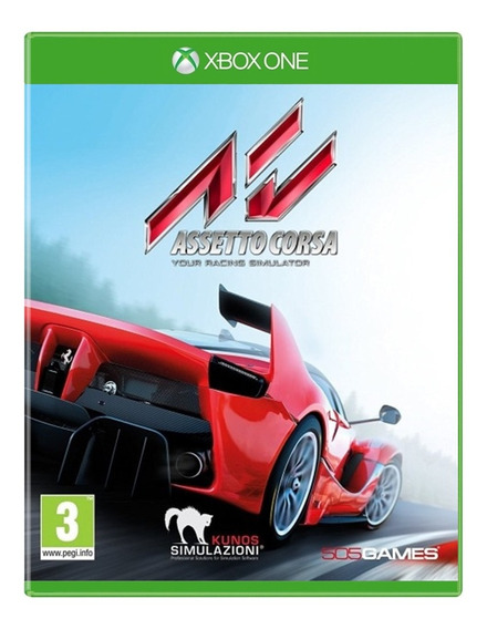 Jogo Assetto Corsa Xbox One Disco Fisico Original Novo Português Corrida Oferta