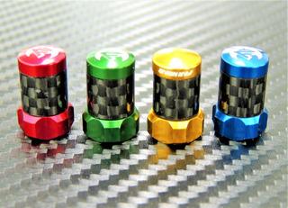 Tapones Para Válvula Franccesa Aluminio/carbono Far And Near