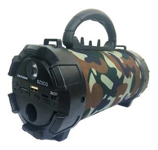 Bafle Bazooca Potenciado Bateria Led Senon Bz3cg Fm Usb