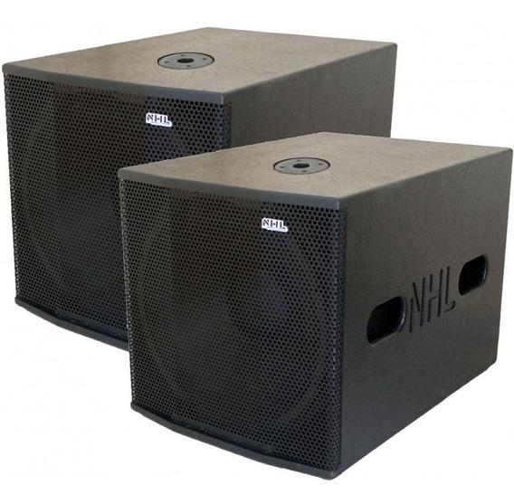Caixa Som Subwoofer Ativo Passivo 2000w 18 Sw Profissional Linha Top Nhl Pro Sound Amplificador Limiter Cooler Proteção