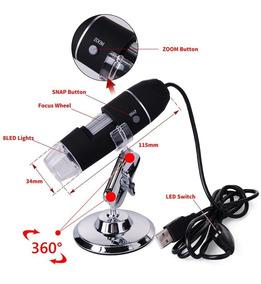 Microscópio Digital Bancada Eletronica 2mp 1000x 8led Usb