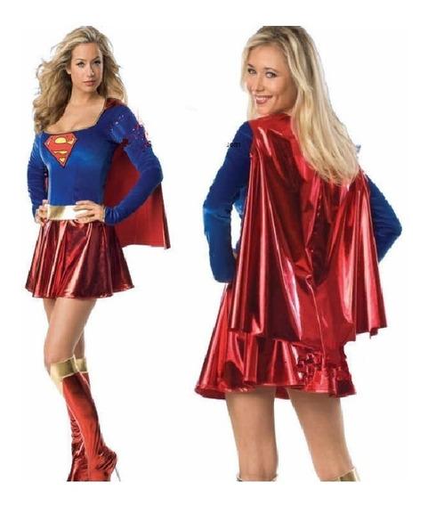 Disfraz De Super Girl Para Dama Talla L Ajustable