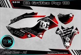 Kit Gráficos Pop 110 Adesivos 0.20m Personalizado Laminado