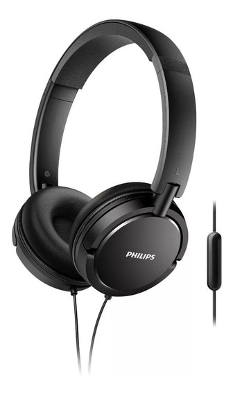 Fone De Ouvido Preto Philips Shl5005 Headphone C/ Microfone