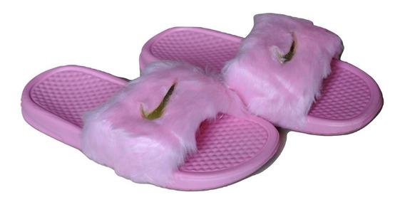 Kp3 Cholas Pantuflas Damas Nike De Gamuza Rosa