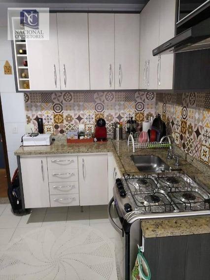 Apartamento Com 3 Dormitórios À Venda, 98 M² Por R$ 585.000 - Vila Bastos - Santo André/sp - Ap9657