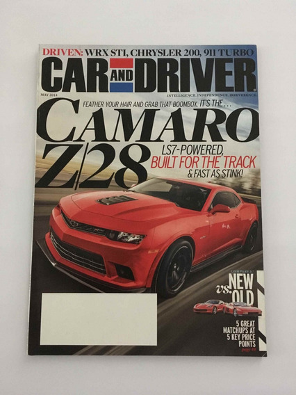 Revista Drive And Car - Maio 2014 - Camaro Z28 Ferrari