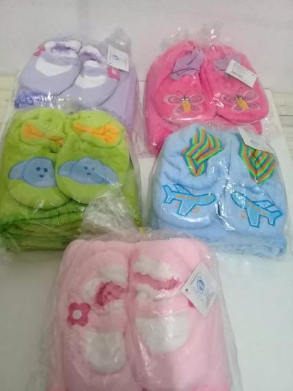 Pantufa E Manta Cobertor Infantil Varias Cores Para Bebe