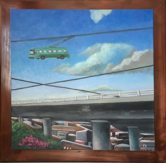 Cuadro Pintura Original - Paisaje Urbano - Oleo Sobre Tela