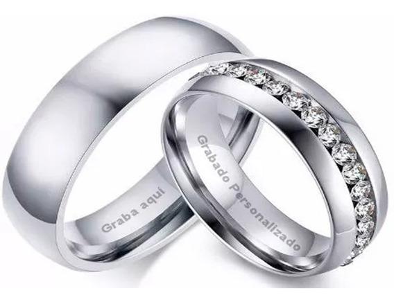 Anillos Para Parejas Matrimonio Amor Grabado Interior Acero
