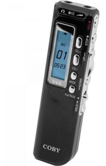 Gravador Digital De Voz, Telefônico E Mp3 Player Cvr20 Preto