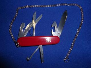 Canivete Victorinox Climber Usado Revisado C/ Corrente 40cm