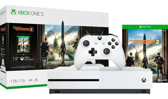 Video Game Xbox One S 1tb 1 Controle Jogo The Division 2