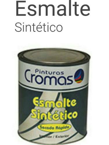 Pinturas Cromas Esmalte Sintético Azul 1/4 De Galón Clase A