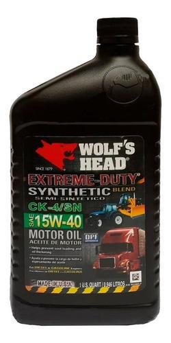 Aceite 15w40 Semisintetico Wolf Head