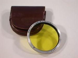Rolleiflex Rollei - Gelb - Mittel (mid. Yellow) Com Case Ori
