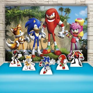 Kit Painel+display Festa Infantil Sonic