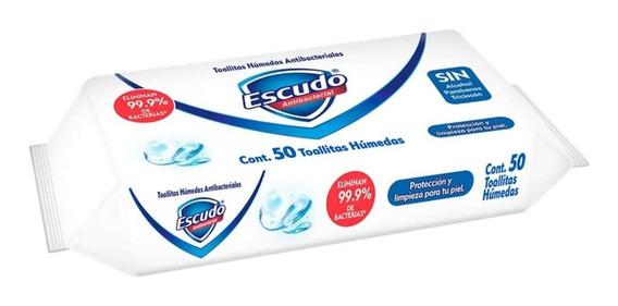 Toallitas Desinfectantes Escudo Con 50 Toallas Elimina 99.9%