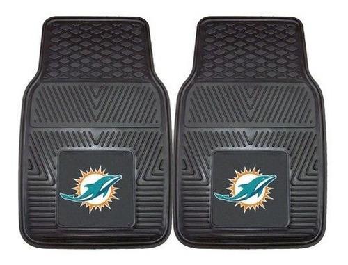 Imagen 1 de 5 de Tapetes Nfl Miami Dolphins De Vinilo Para Auto Juego De 2 Al