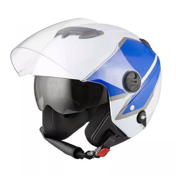 Capacete New Atomic Pro Tork Superbike White/bluetam56