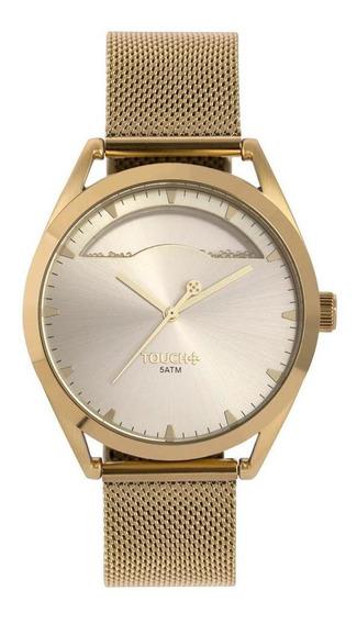 Relógio Touch Feminino Dourado Twy121e6am/4d