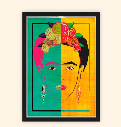 Quadro Caixa 23x33cm Frida Brasil