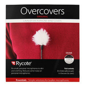 Adesivo Rycote Overcover Para Lapela C/ 6 - 3 Cores