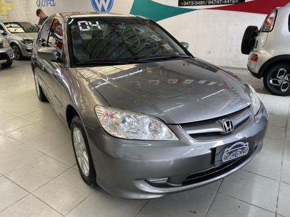 Civic Sedan Lxl 1.7 Automatico 4p 2004 Completo Impecavel !!