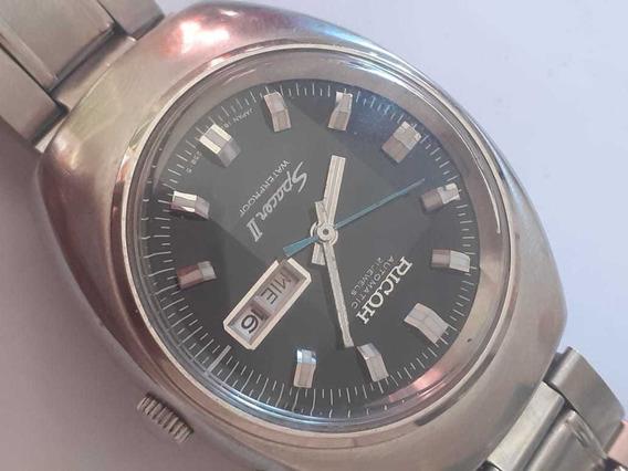 Relógio Ricoh Spacer 2, Vidro Bisotê Incrível, Coleção!!!