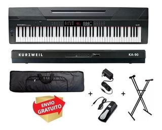 Piano Digital Kurzweil Ka90 88 Teclas Pesadas + Accesorio