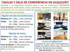Aulas En Alquiler En Arequipa