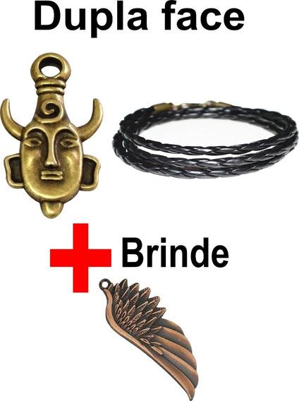 Colar Sobrenatural Amuleto Dean Winchester Dupla Face Bronze