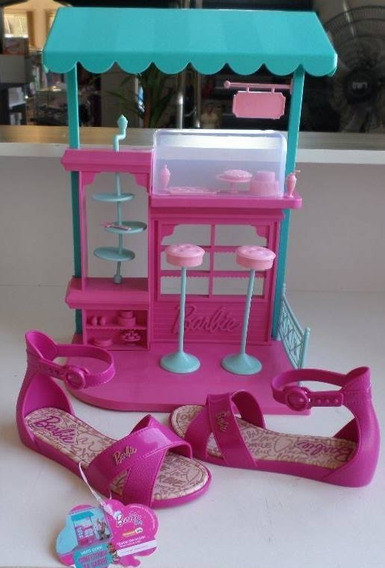 Sandália Infantil Feminina Barbie Confeitaria Ref-21921