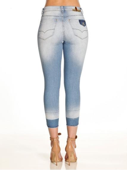 Emporio 9115 Jeans Calça Cropped Fem C/ Lycra - Promoção