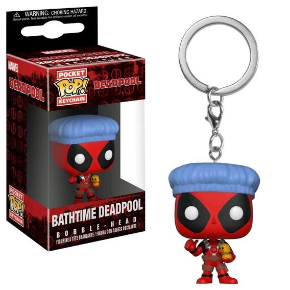 Funko Pop Pocket Keychain Marvel Deadpool Gorra De Baño