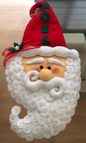Santa Claus De Fieltro Adorno Navideño