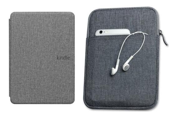 Capa Novo Kindle 10ª Geração Cinza + Bolsa E + 4 Brindes
