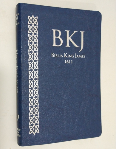 Imagem 1 de 3 de Bíblia  Sagrada King James Fiel 1611 Ultra Fina Slim Azul