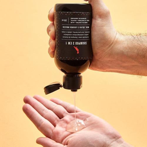 Shampoo 3 X 1 250ml Musk