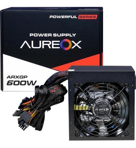 Fuente Pc Gamer Aureox Arxgp 600w Reales Cooler 120mm Gaming